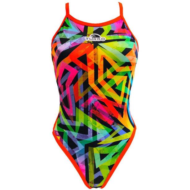 Turbo Neon Fluo Swimsuit Damen yellow