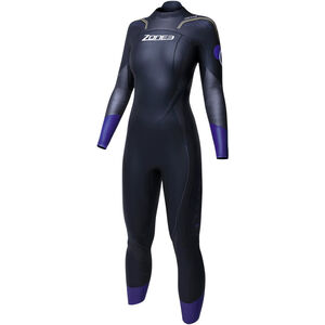 Zone3 Aspire Wetsuit Damen black/gun metal/purple black/gun metal/purple