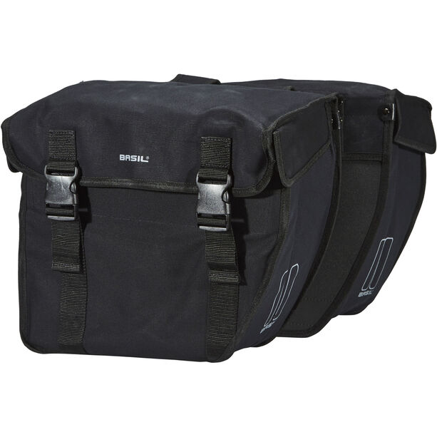 Basil Kavan Rounded Doppel-Gepäckträgertasche schwarz