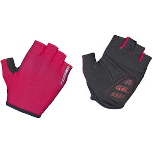 GripGrab Solara Padded Tan Through Short Finger Gloves red red