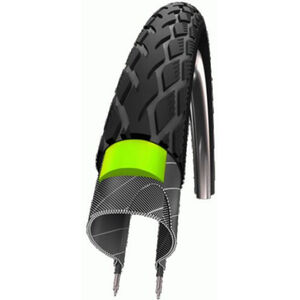 SCHWALBE Marathon Reifen Performance, 27 Zoll, GreenGuard, Draht, Reflex