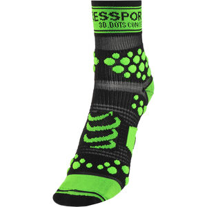 Compressport Racing V2 Trail High Socks black/green black/green
