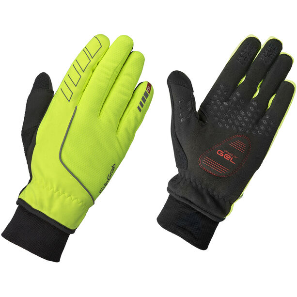 GripGrab Windster Hi-Vis Windproof Winter Gloves Herren fluo yellow