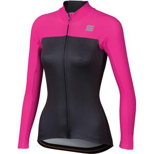 Sportful Bodyfit Pro Langarm Thermal Trikot Damen anthracite/bubble gum anthracite/bubble gum