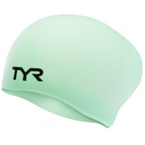 TYR Wrinkle-Free Long Hair Swimming Cap mint mint