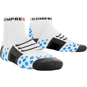 Compressport ProRacing Run High Socks white/blue white/blue