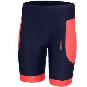 Zone3 Aquaflo Plus Shorts Damen navy/coral navy/coral