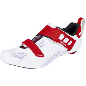 Bontrager Woomera Triathlon Shoes Herren white/red white/red