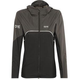 GORE WEAR R7 Partial Gore-Tex Infinium Hooded Jacket Damen black/terra grey black/terra grey