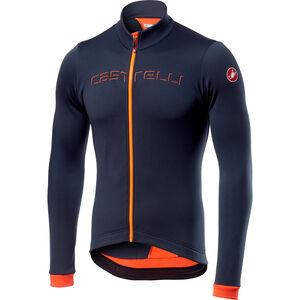 Castelli Fondo Full-Zip Jersey Herren dark steel blue/orange dark steel blue/orange