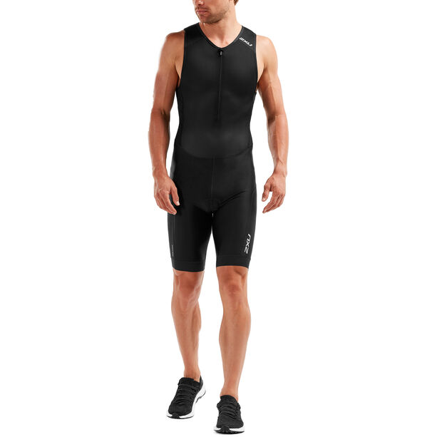 2XU Perform Front Zip Trisuit Herren black/black