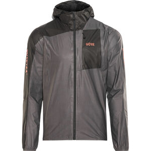 GORE WEAR R7 Gore-Tex Shakedry Hooded Jacket Herren lava grey/black lava grey/black