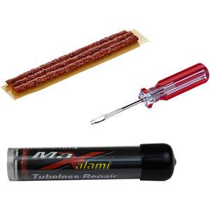 MaXalami Basic Schlauch Reparaturkit für schlauchlose Reifen, Display Cap braun-rot braun-rot