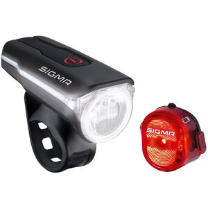 SIGMA SPORT Aura 60 USB/Nugget II Beleuchtungs Set