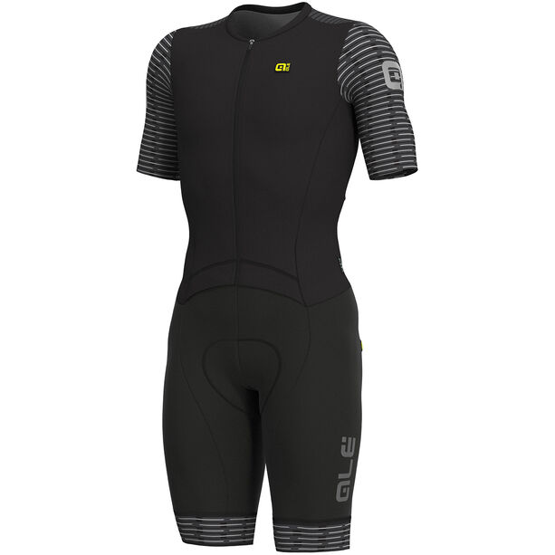 Alé Cycling R-EV1 Fuga SS Unitard Herren black-white