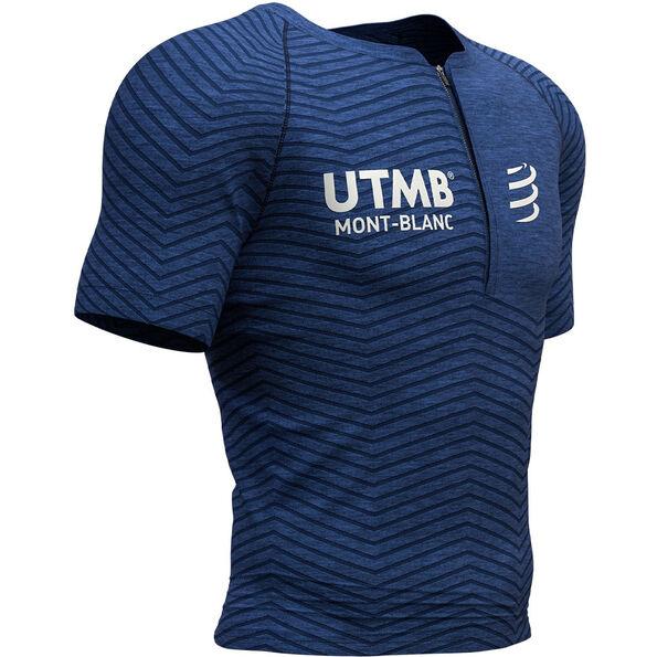 Compressport UltraTrail Postural UTMB 2019 Kurzarmtop blue