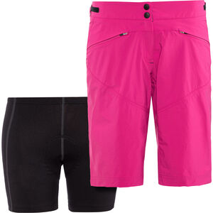 Löffler Montina Comfort Stretch Light Bike Shorts Damen berry berry