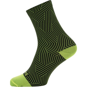 GORE WEAR C3 Optiline Mid Socks neon yellow/black neon yellow/black