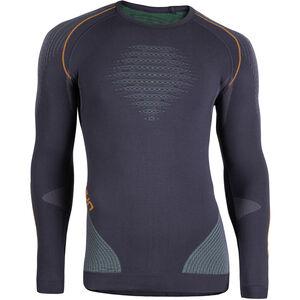 UYN Evolutyon UW LS Shirt Herren charcoal/green/orange shiny charcoal/green/orange shiny