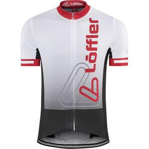 Löffler Racing Bike Jersey Full-Zip Herren weiß/rot weiß/rot