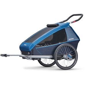 Croozer Kid Plus for 2 Fahrradanhänger ocean blue bei fahrrad.de Online