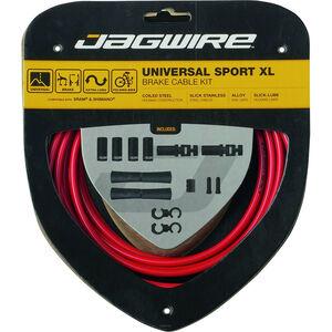Jagwire Sport XL Universal Bremszugset für Shimano/SRAM rot rot