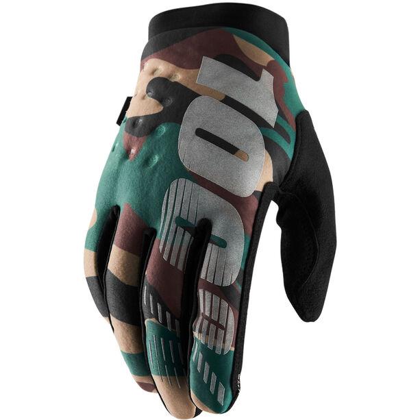 100% Brisker Cold Weather Gloves camo black