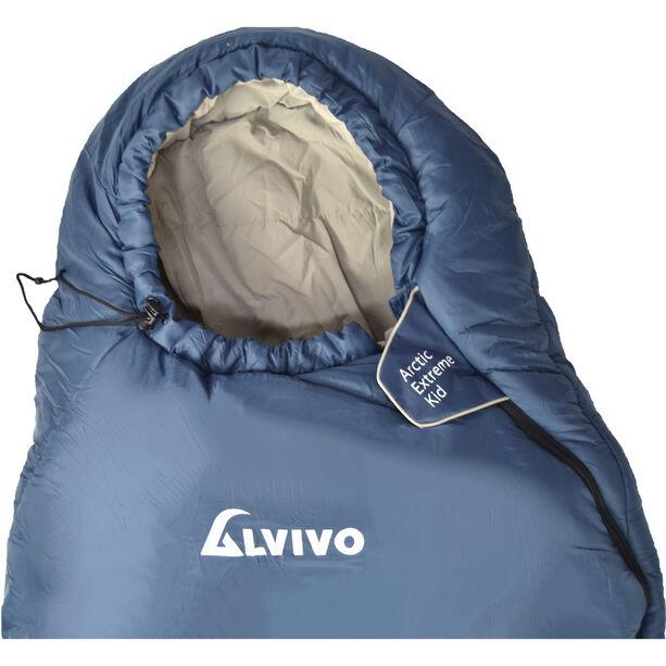 Alvivo Arctic Extreme Sleeping Bag Kinder blau/grau