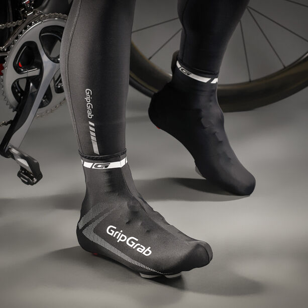 GripGrab RaceAero Lightweight Lycra Shoe Cover black