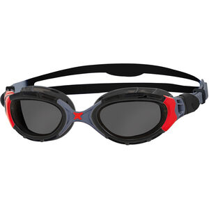 Zoggs Predator Flex Goggles Polarized black/red/smoke black/red/smoke