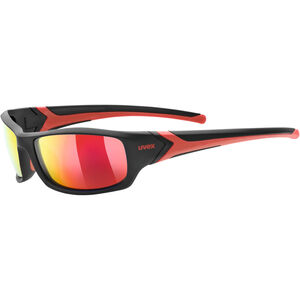 UVEX Sportstyle 211 Pola Sportglasses black matt red/mirror red bei fahrrad.de Online