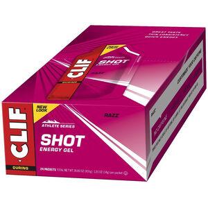 CLIF Bar Shot Gel Box 24 x 34g Razz/Himbeere
