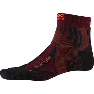 X-Socks Marathon Socks dark ruby/sunset orange dark ruby/sunset orange