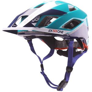 SixSixOne EVO AM Helm orange/blue