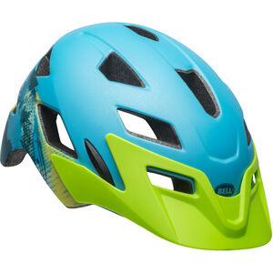Bell Sidetrack Helmet Kinder matte blue/bright green matte blue/bright green