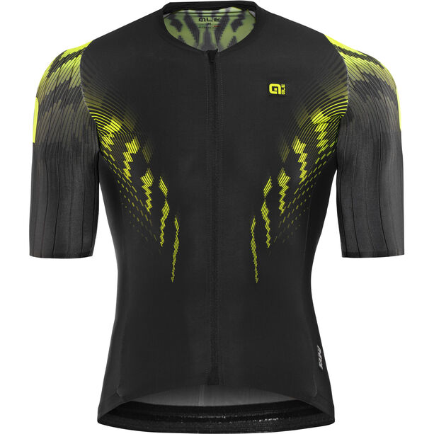 Alé Cycling R-EV1 Pro Race Shortsleeve Jersey Herren black-fluo yellow