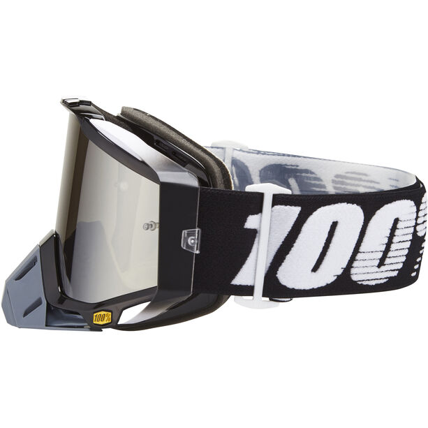 100% Racecraft Anti Fog Mirror Goggles abyss black