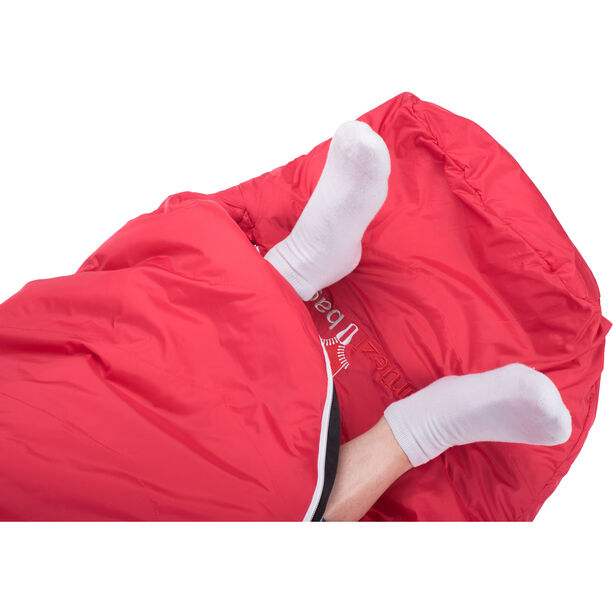 Grüezi-Bag Biopod Wool Zero Sleeping Bag XL tango red