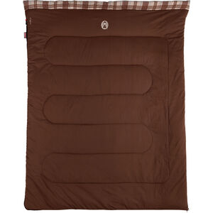 Coleman Hampton Double Sleeping Bag braun/rot