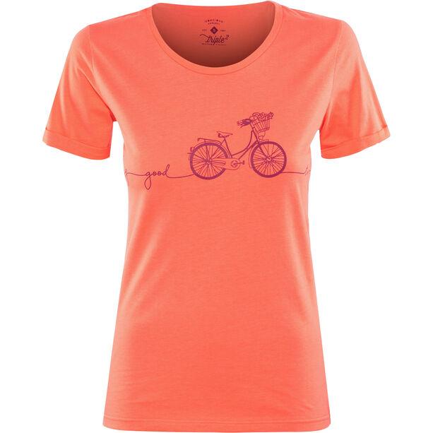 Triple2 Laag Bike T-Shirt Damen living coral