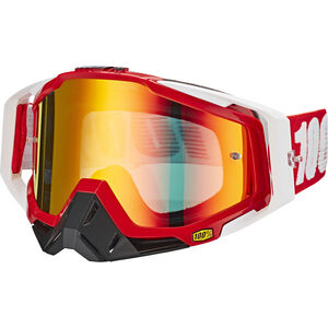 100% Racecraft Anti Fog Mirror Goggles fire red fire red