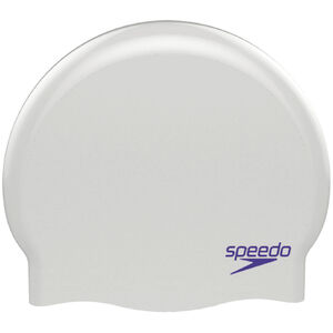 speedo Plain Moulded Silicone Cap Kinder white/purple white/purple