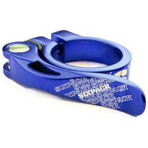 Sixpack Menace Sattelklemme Ø34,9mm blau blau