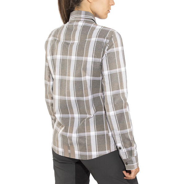 Shimano Transit Check Longsleeve Button Up Shirt Damen