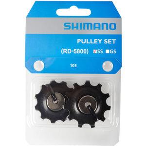 Shimano 105 Schaltungsrollen für 11-fach RD-5800-SS schwarz schwarz