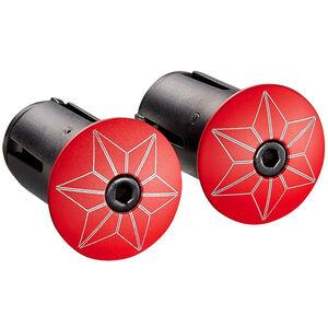 Supacaz Star Plugz Lenkerendkappen rot-pulverbeschichtet bei fahrrad.de Online