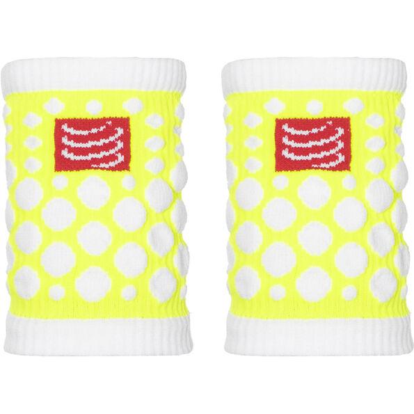 Compressport 3D Dots Sweatbands fluo yellow