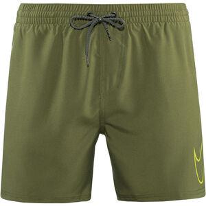 "Nike Swim Perforated Swoosh 5"" Volley Shorts Herren medium olive medium olive"