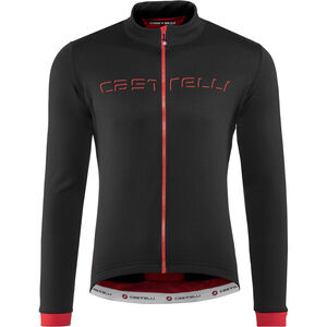 Castelli Fondo Full-Zip Jersey black/red