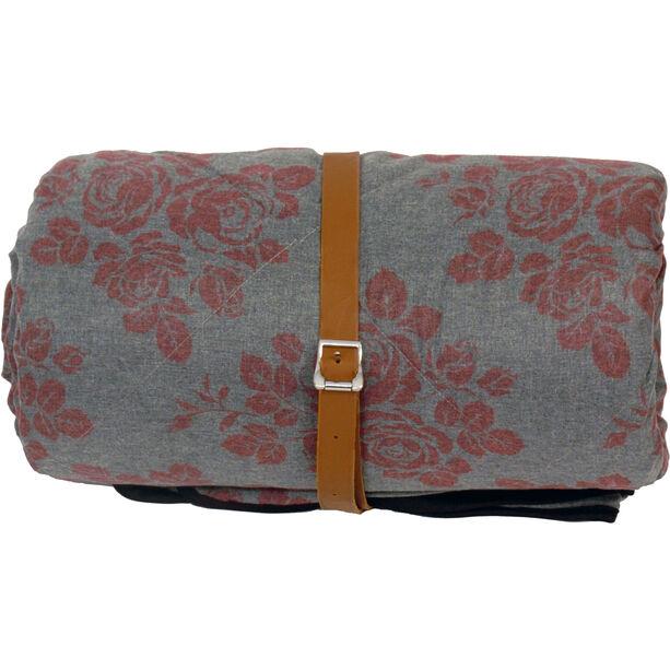 Grüezi-Bag WellhealthBlanket Wool Deluxe Sleeping Bag grey melange/berry